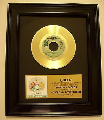 Queen YOU'RE MY BEST FRIEND Gold 45 Record + Mini Album Sleeve Not a Award