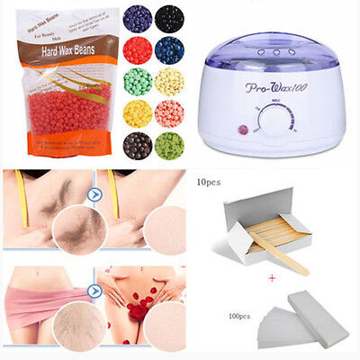 100G Hard Wax Beans Add Wax Warmer Heater Machine For Hair Removal set Xmas Gift