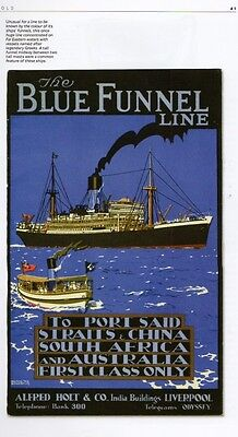 P&O Blue Funnel Line Cunard British India NYK Ocean Liner Picture History Book