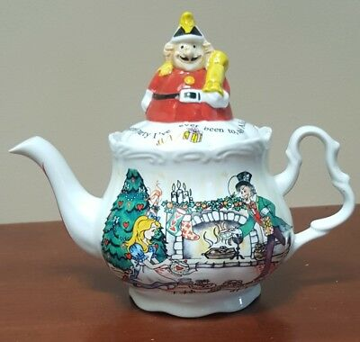 Alice in Wonderland Christmas Tea Party Teapot by Paul Cardew England 150th Ann.