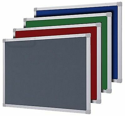 FELT ALUMINIUM NOTICE PIN BOARD 900 x 600 + 1200 x 900 mm FREE DELIVERY