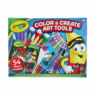 Crayola Colour & Create Art Tools Box 54 Piece