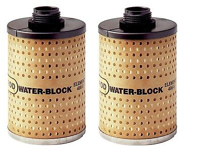 """(2) Goldenrod 496-5 Fuel Filters ~ 3"""" x 4-15/16"""" ~ New"""