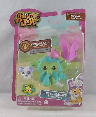 Animal Jam Lucky Monkey And Pet Game Code 7 99 Picclick