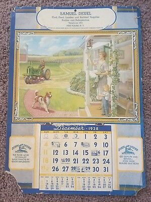 Original 1938 John Deere Calendar *VERY RARE* Won't find another cheaper!