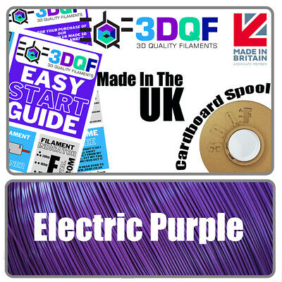 3DQF Purple UK Made 3D Printer Filament PLA 1.75mm All 3D Printers