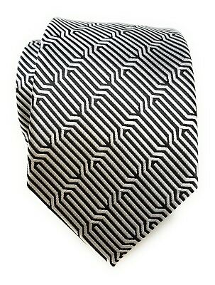 Labiyeur Woven Jacquard Geometric Ys Medium Men's Tie Necktie