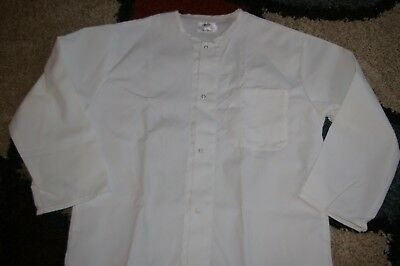 """Best Medical Collarless L/S Lab Coat W/ Pocket & Side Vents 41"""" Length XS to L"""