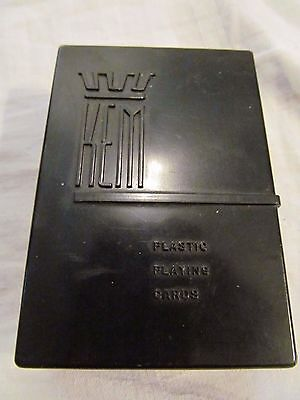 Vintage KEM Plastic Playing Cards.  Original Plastic Box.  Complete. Made in USA