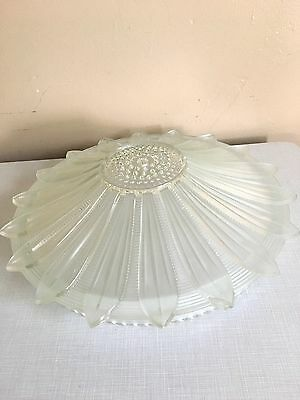 Vtg  Antique Art Deco Starburst Sunflower Light Ceiling Fixture Chandelier Shade