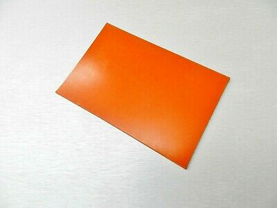 "Silicone Rubber Sheet High Temp Solid Red/Orange Commercial Grade 4"" x 6"" x 1/8"""