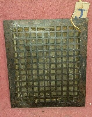ANTIQUE 14X12 INCH CAST IRON FLOOR  RETURN GRATE LOUVERS REGISTER Salvage