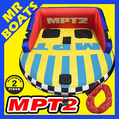 MPT2 ✱ SKI TUBE 1-2 Person + ROPE ✱ Large Top Quality Ski Biscuit 65 Inch 165 cm