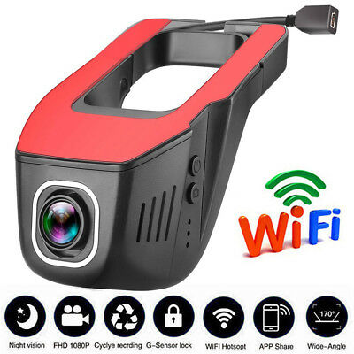 170° HD 1080P WIFI Hidden Camera Car DVR Video Recorder Night Vision Dash Cam