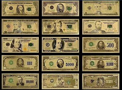 ☆MINT UNC. FULL SET☆ $1-$1B Rep.* Banknotes W/COA~STUNNINGLY Detailed W/ COLOR☆a
