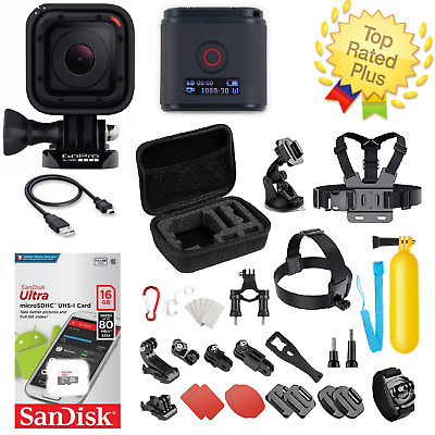 GoPro HERO 4 Session + Carrying Case Sports Accessories W/ 16GB SD (40+ PCS)