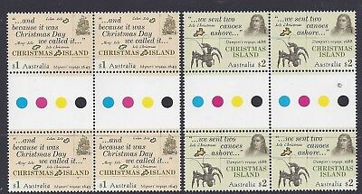 Christmas Island 2017 Early Voyages Gutter Block of 4 Stamps