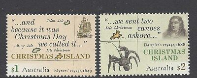 Christmas Island 2017 Early Voyages pair of Stamps