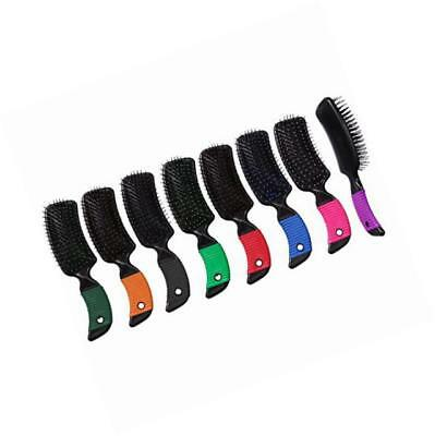 tough-1 curved handle tail and mane brush - 6 pk.