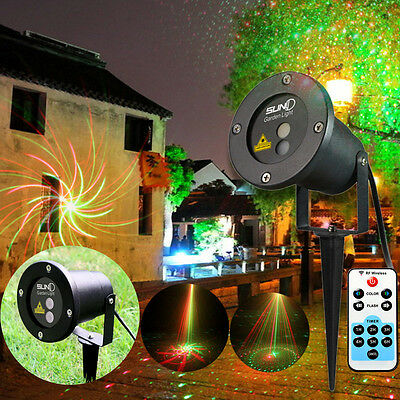 RG Laser Light RED GREEN MOTION Projector Outdoor Garden Xmas Party Lighting IR