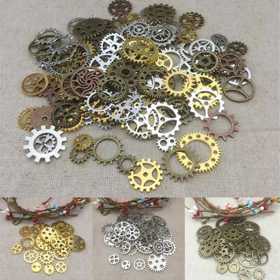 50-200G Pieces Lots Vintage Gears Wheel Steam Punk Wrist Watch Jewelry Parts NEW