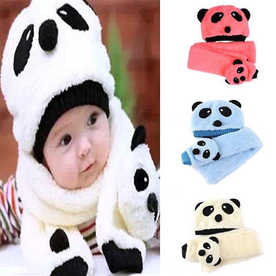 Wool Super Warm Thickness Winter Kid Hat+Scarf Set for 1-5 Years Children Hats