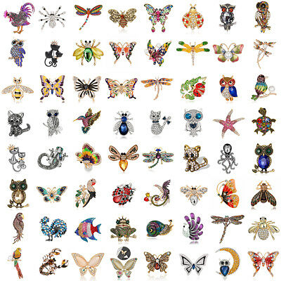 Women's Alloy Rhinestone Crystal Animal Bridal Wedding Party Brooch Pin Precious