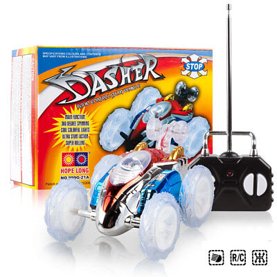 RC Stunt Car Turbo 360 Twister Flashing Light Dasher Vehicle Toy Remote Control