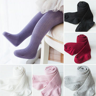 Kids Baby Girls Infant Toddler Knitted Pure Cotton Warm Tight Stocking Sock Pant