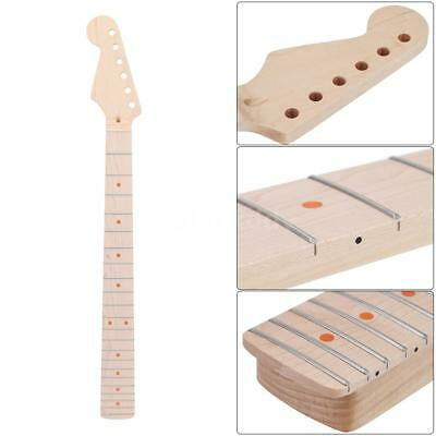22 Frets Electric Guitar Maple Neck and Fingerboard Dot Inlay Replacement F4L1