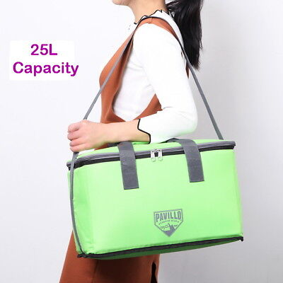 25L Collapsible Folding Insulated Shoulder Bag Camping Outdoor Picnic Bag Cooler