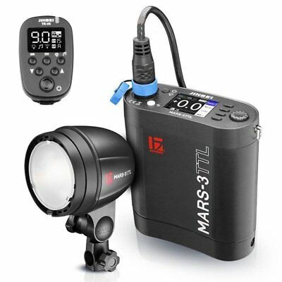 Jinbei MARS-3 300W 300W HSS TTL Studio Strobe Flash with Battery Pack with TR-V6