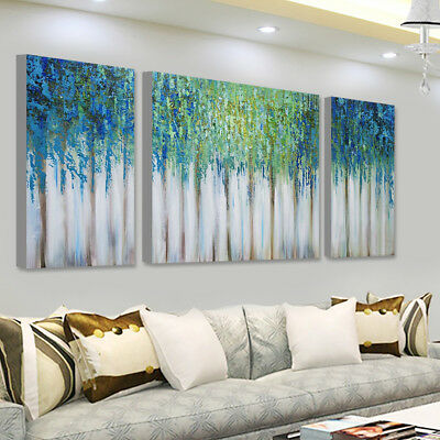 Framed Blue Memory Abstract Canvas Painting Wall Art Print Pictures Home Decor