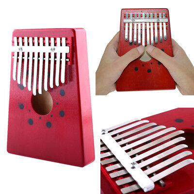 African Thumb Piano Finger Percussion Keyboard Music Instruments Kids Toy 10 Key
