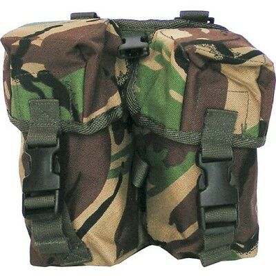Clearance Plce Double Magazine Ammo Pouch Dpm Webbing Paintballing British Army