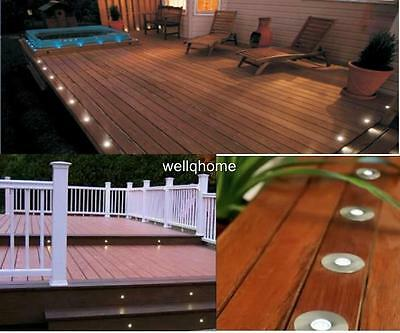 Kit of 20 15mm White LED Deck/Step/Plinth/Recessed/Garden Light IP66 OUTDOOR USE
