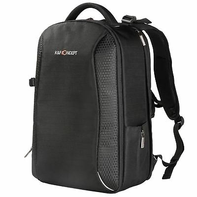 K&F Concept DSLR SLR Camera Backpack Bag with Waterproof Cover for Canon Nikon