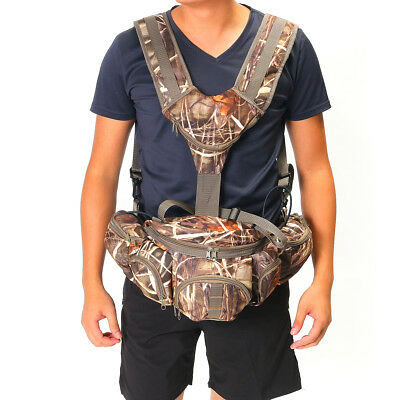 Tactical Men Outdoor Camouflage Hunting Backpack Waist Bag Fishing Hiking Pack
