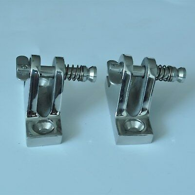 Lots Of 2 Stainless Steel Deck Hinge Boat Bimini Top Fitting 10 Degree Quick Pin