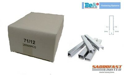 BeA 71 TYPE STAPLES 12MM - 2 BOXES OF 20,000