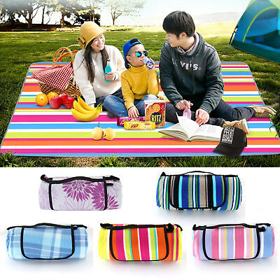 Multicolor Extra Large Waterproof Picnic Blanket Rug Travel Outdoor Beach