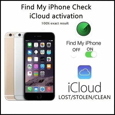 iPhone FMI Check + iCloud Status + Blacklist PRO (any iPhone around the world)