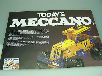 "1980's ""Today's Meccano"" fold out poster brochure                          1975"