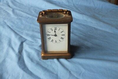 Antique French French Carriage Clock With Platform Escapement