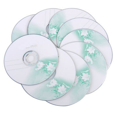 10pcs 52X Blank CD-R CDR Recordable Disc Media 700MB 80Mins
