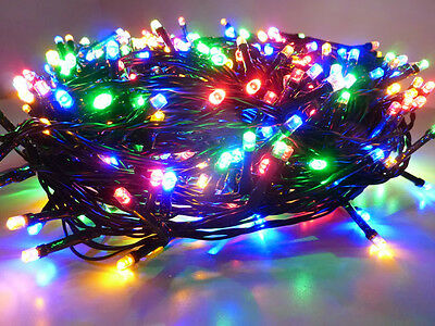 75M 1000Led Multicolor Chasing Christmas Fairy Lights With 8 Functions & Memory