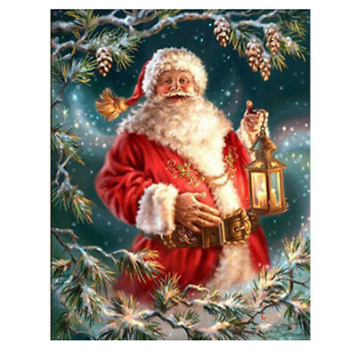 Christmas 5D Diamond Painting Santa Claus Cross Stitch Embroidery Kit W3J7
