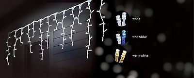 8.9M 360 Led Solar Snowing Icicle Christmas Lights With 8 Functions
