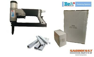 BeA 71/16 416 GREY BODY 71 TYPE LONG NOSE AIR STAPLER WITH 240,000 12MM STAPLES