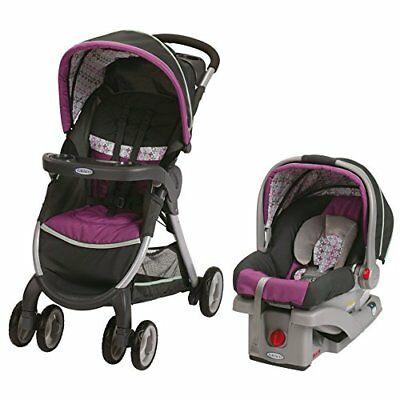 Graco FastAction Fold Click Connect Travel System, Baby Car Seat Stroller Combo